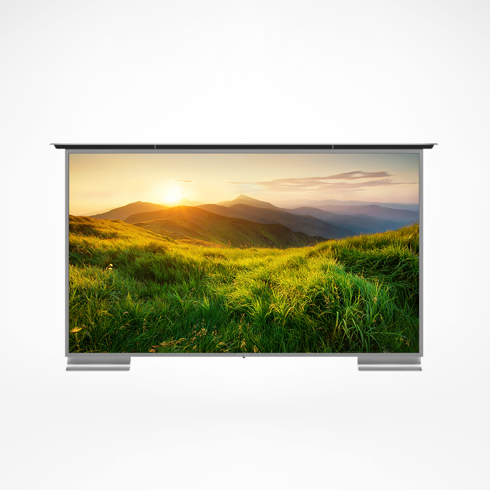 The best outdoor TV with extra thin bezel, heat strengthened anti glare glass, and most of all very smart.