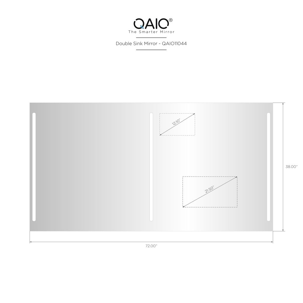 "QAIO 72″ wide x 38"" high, with 22"" TV (QAIO11044)"