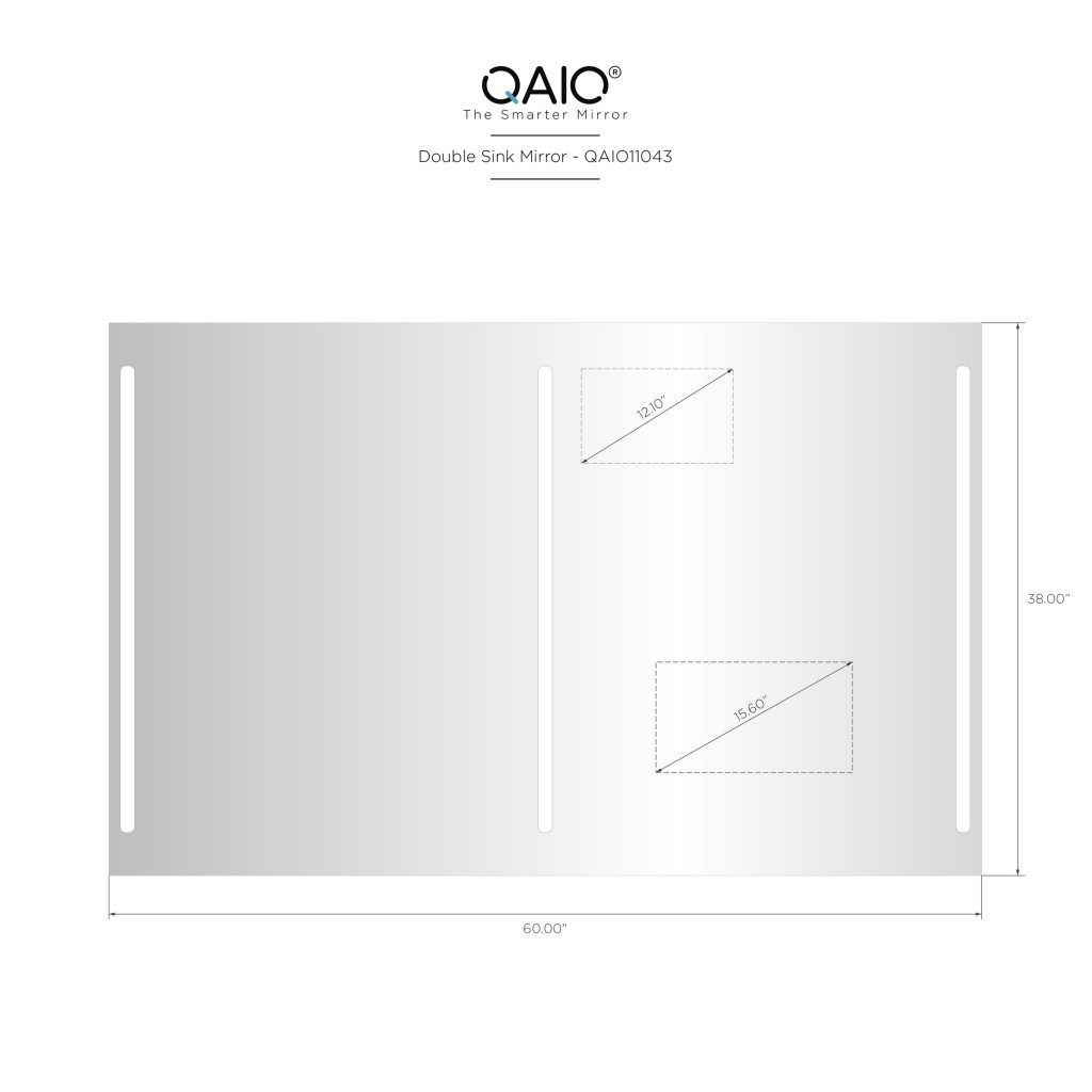 "QAIO 60″ wide x 38"" high, with 15.6"" TV (QAIO11043)"