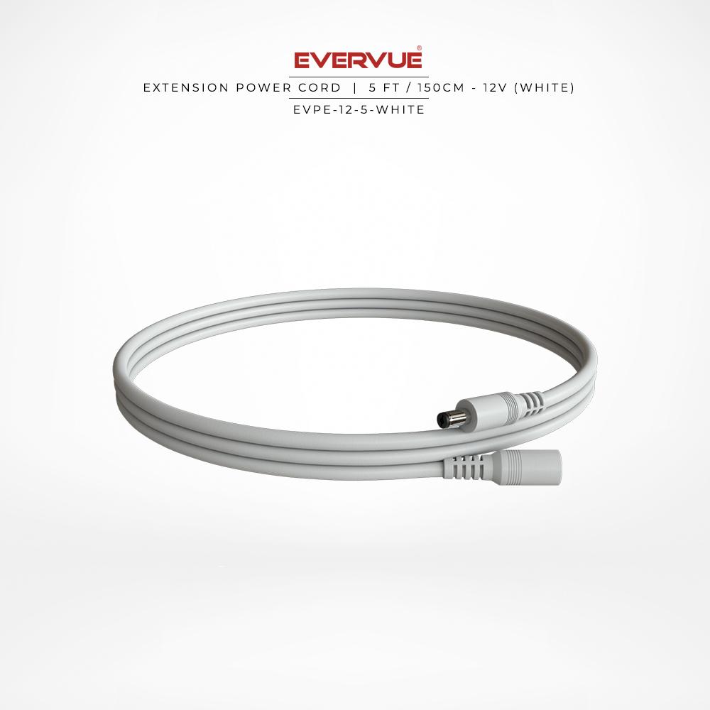 12V – 5ft / 150cm White – (OCCB-180-5W) $26.00