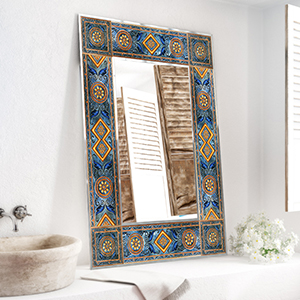 Mediterranean inspired frame and more frame designs for mirrors available in our store.