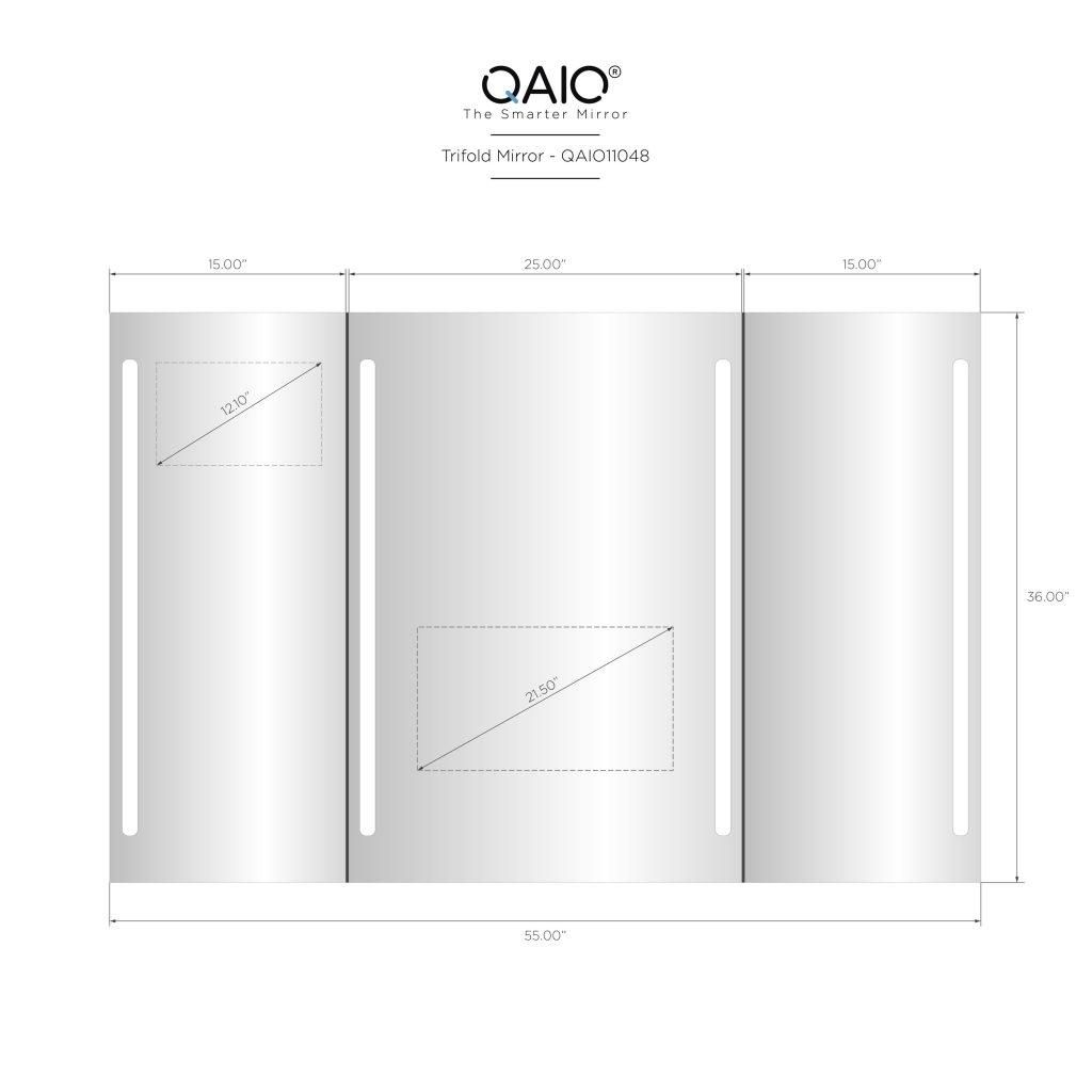 """QAIO Trifold, 56″ wide x 36"""" high, with 22"""" TV (QAIO11048)"""