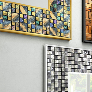 Mosaic framed mirrors will take your bathroom interior to the next level.
