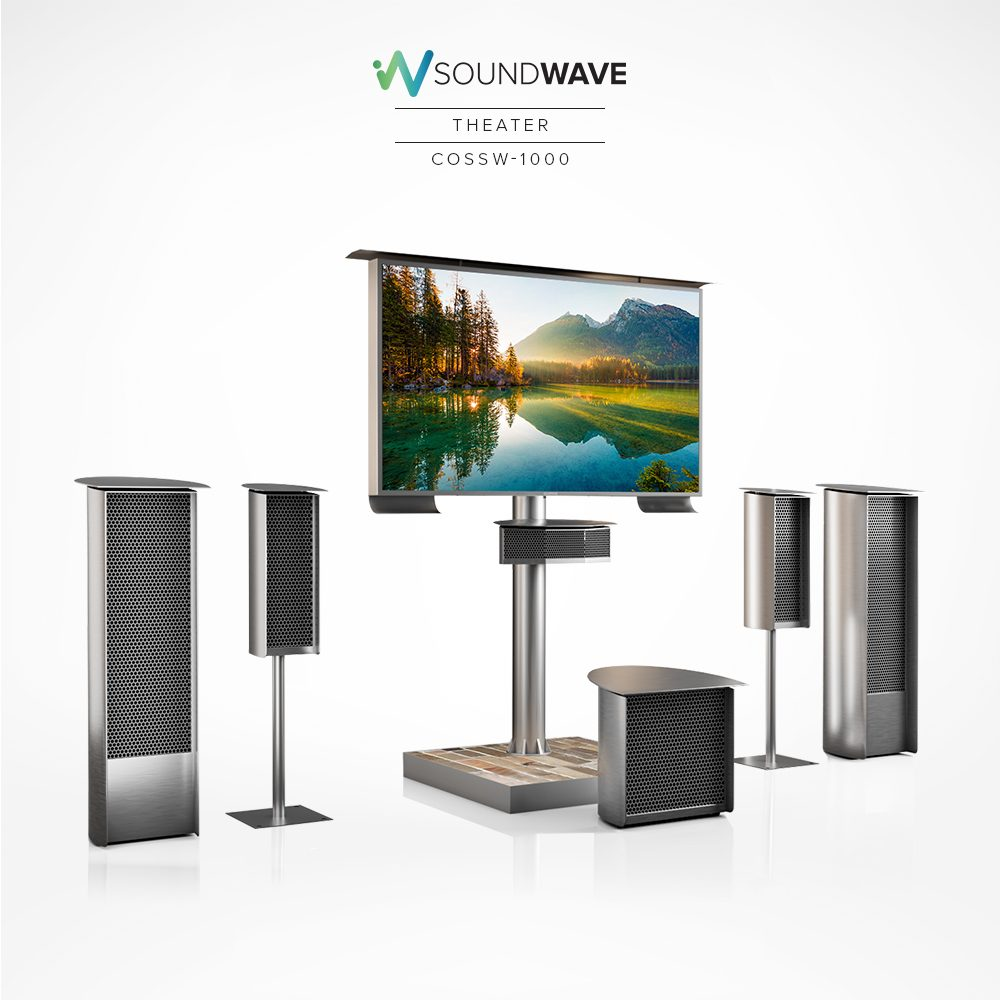 An outdoor theater setup with our smart TV and powerful concert speakers.