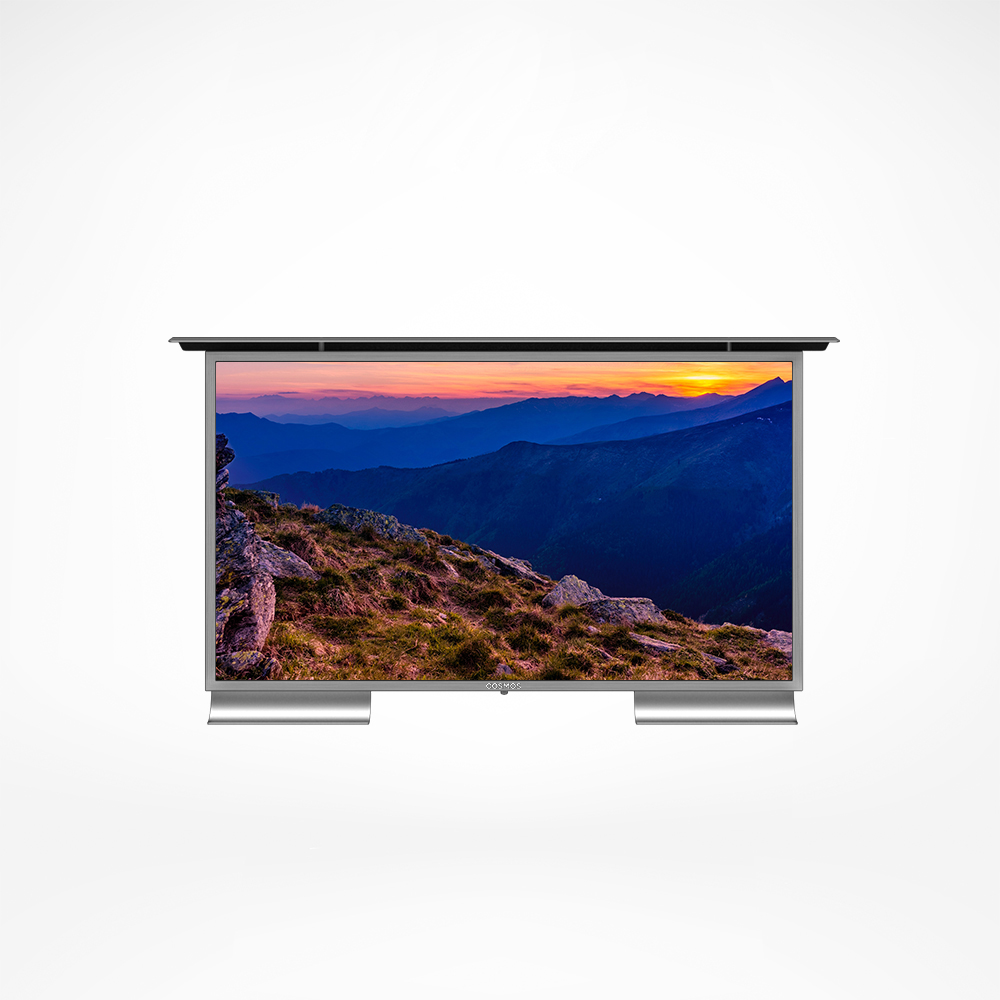 This outdoor TV has extra thin bezel and heat strengthened anti glare glass.