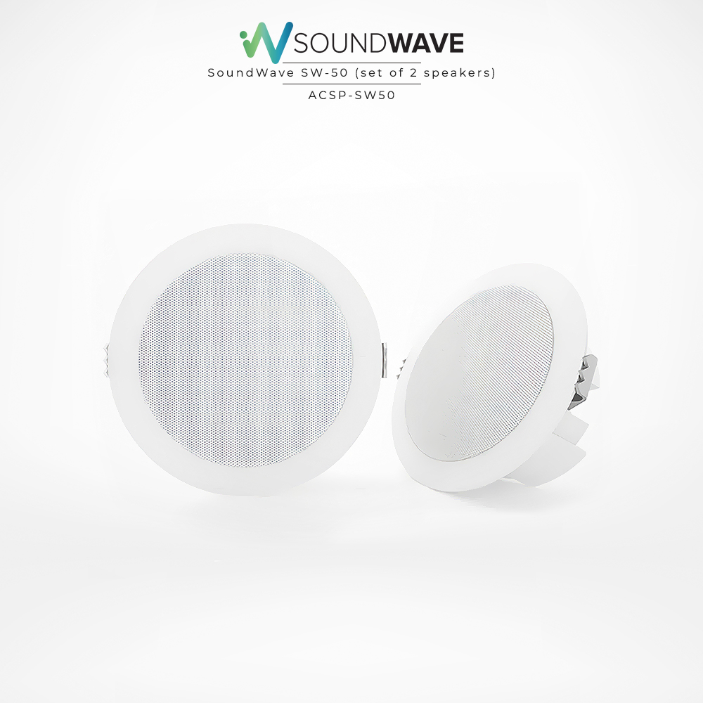 Recessed and moisture resistant speakers with excellent audio quality.
