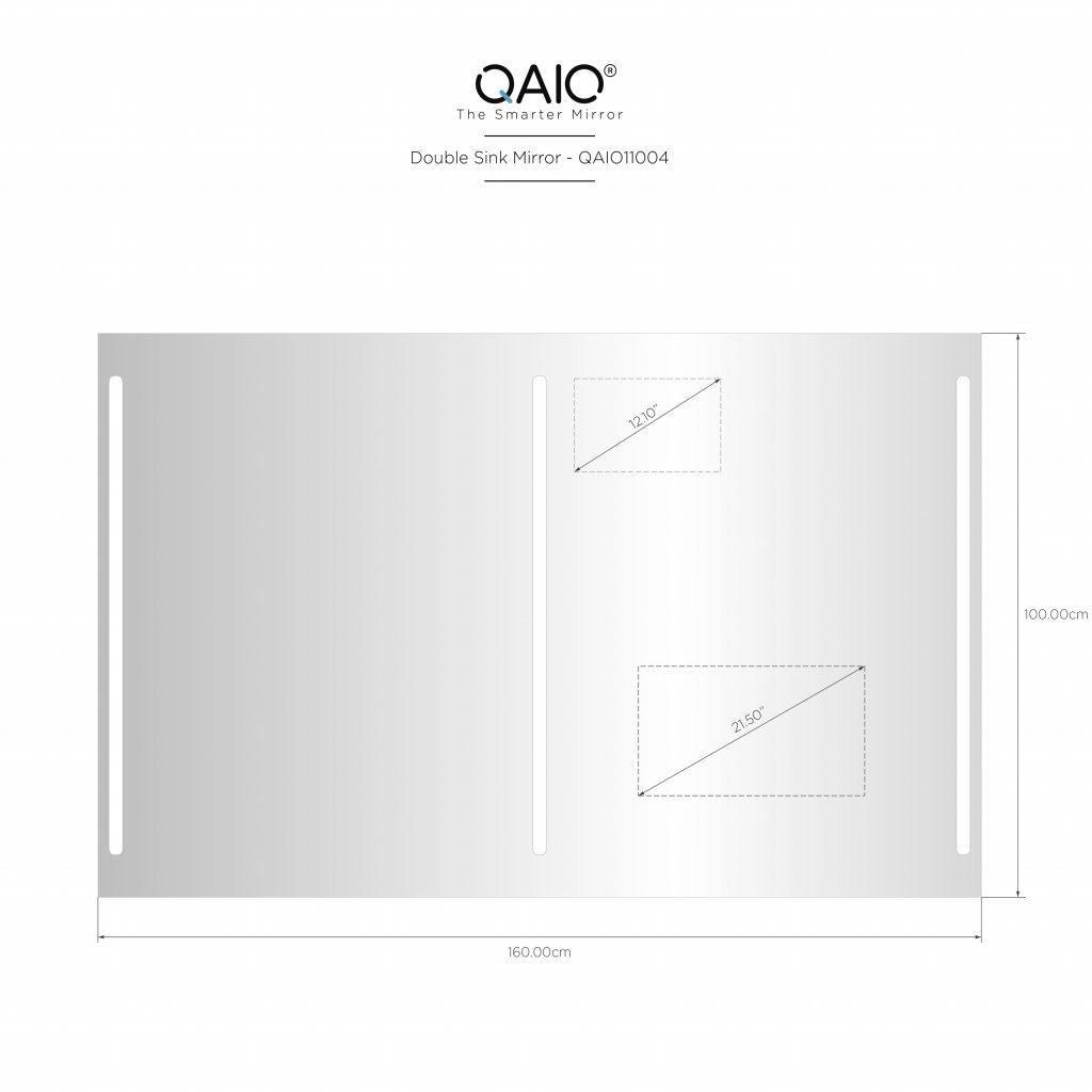 "QAIO 72″ wide x 38"" high, with 22"" TV (QAIO11044)"