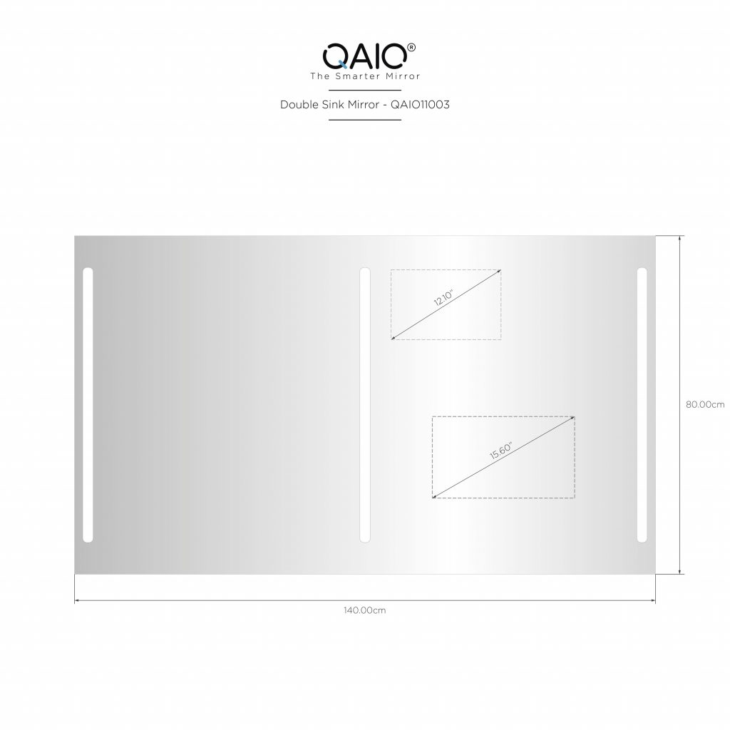 "QAIO 60″ wide x 38"" high, with 15.6"" TV (QAIO11043)"