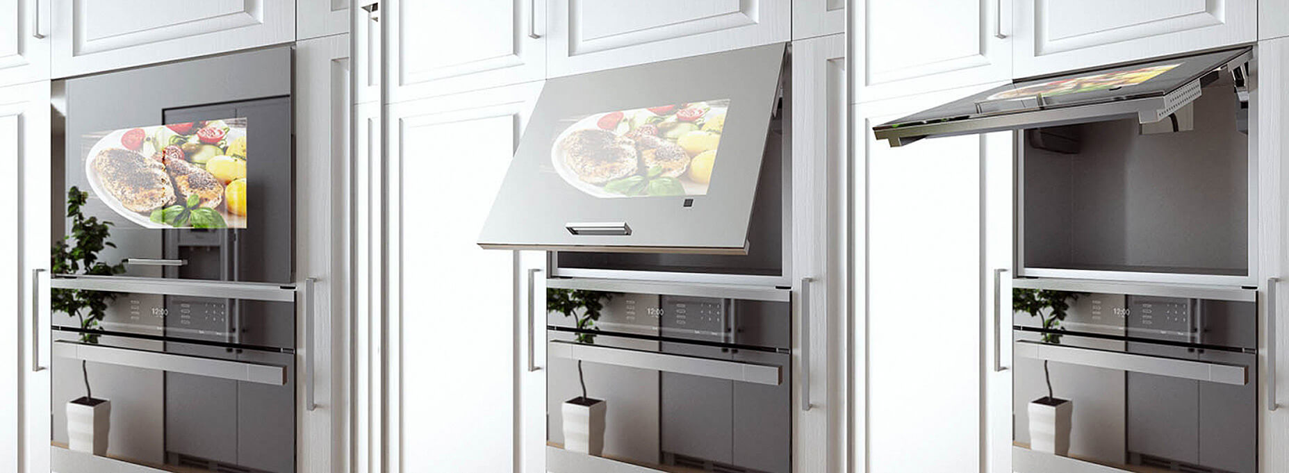 Smart oven cabinet TV, bake while watching your favorite TV shows and movies.