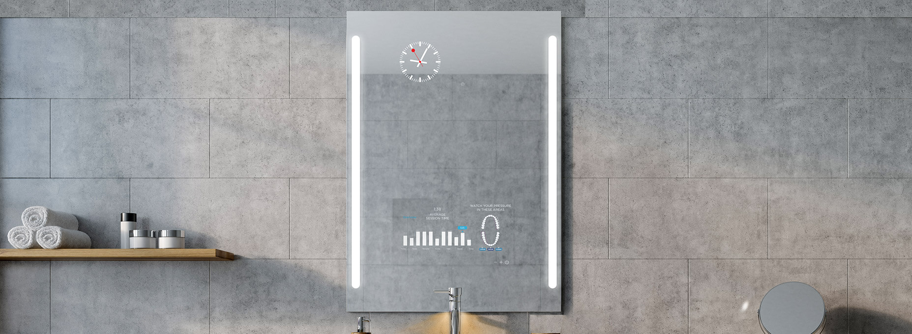 Smart vanity mirror TV you'll enjoy using over and over again.