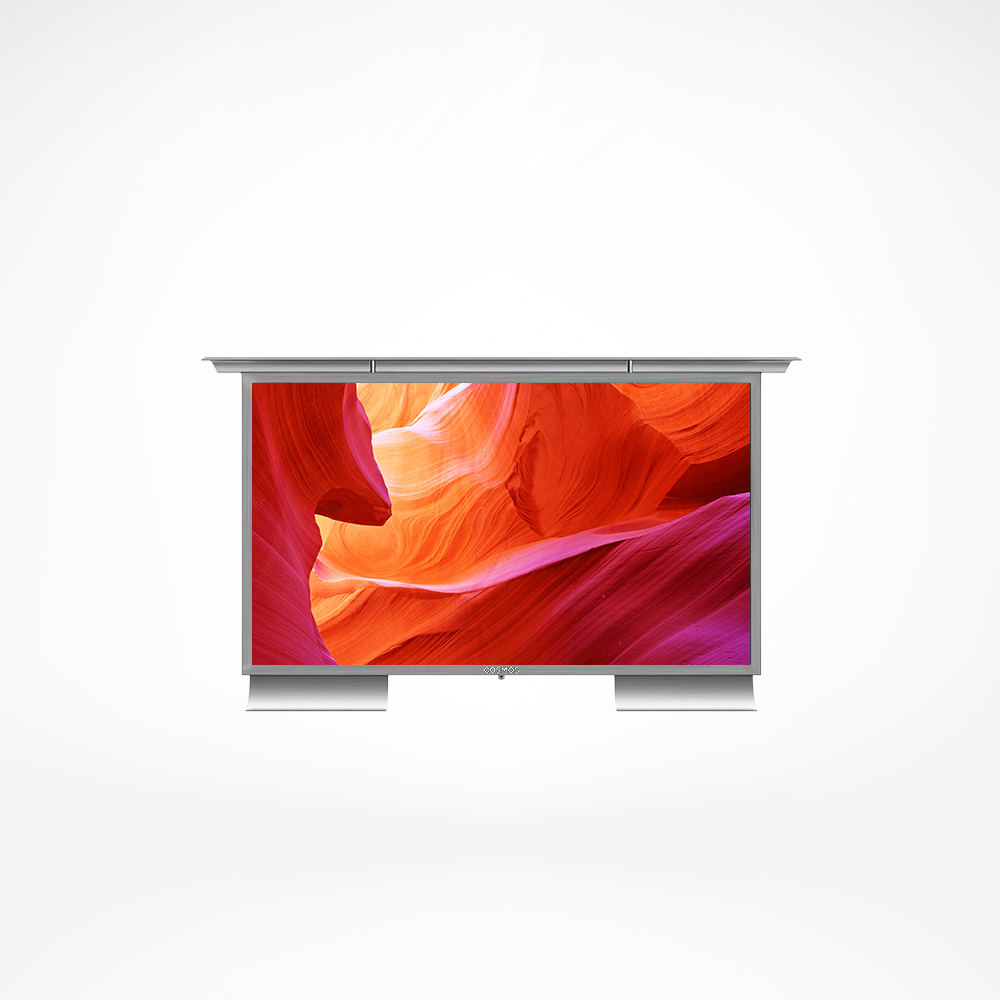 Stainless steel smart TV for your outdoor space.