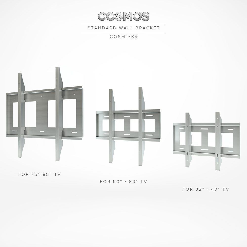 Three standard TV wall mount bracket specially designed for perfect stability.